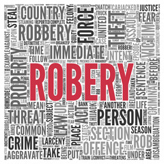 ROBERY Concept Word Tag Cloud Design