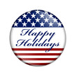 Happy Holidays USA Button