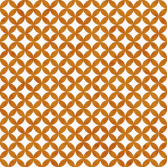 Orange and White Interconnected Circles Tiles Pattern Repeat Bac