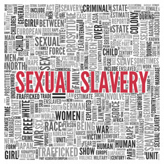SEXUAL SLAVERY Concept in Word Tag Cloud Design