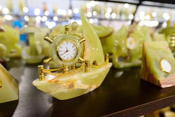 Beautiful watch from onyx stones