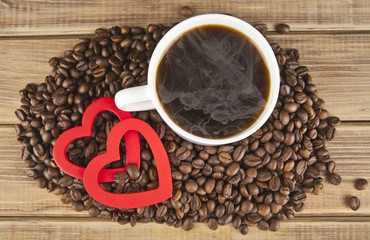 two hearts and coffee