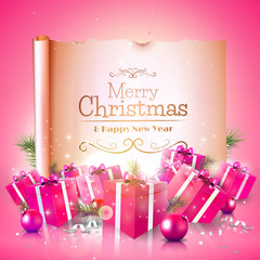 Luxury Christmas greeting card