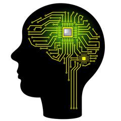 Circuit board in form of brain