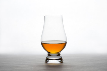 Whiskey in a Crystal Tasting Glass