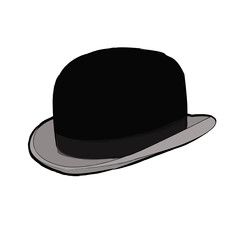 black hat isolated on a white background.