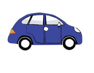 car. Vintage car. blue car.