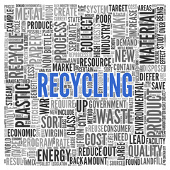 RECYCLING Concept Word Tag Cloud Design