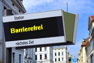 Anzeigetafel 7 - Barrierefrei