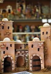 Figuras del Belén, mercado de Navidad