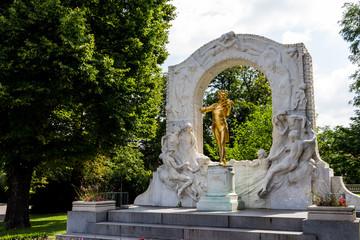 Österreich, Wien, Johann Strauß Denkmal