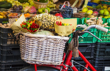 Colorful Vegetables in a Marketplace, Rome