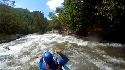 Baraka down river. Rafting as extreme and fun sport