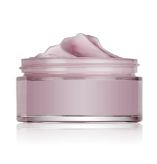 glass jar of cosmetic cream, isolated