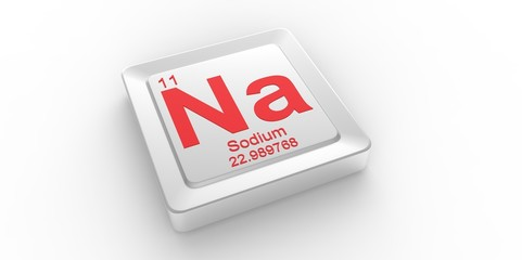 Na symbol 11 for Sodium chemical element of the periodic table