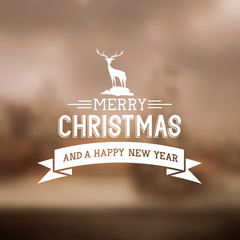 Merry Christmas Sign Vector illustration.