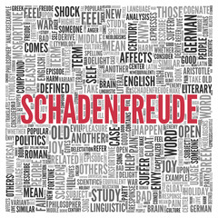 SCHADENFREUDE Concept Word Tag Cloud Design