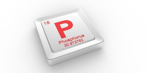P symbol 15for Phosphorus chemical element of the periodic table