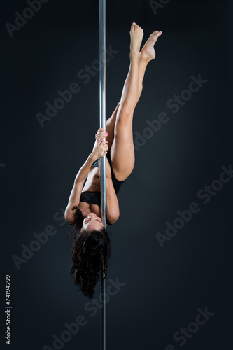 Aluminium Luchtsport Young sexy pole dance woman