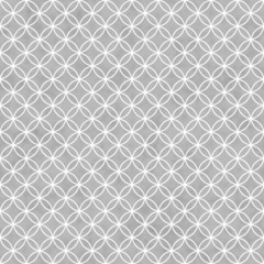 Gray and White Interlocking Circles Tiles Pattern Repeat Backgro
