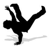 Fototapety ballerino di hip hop