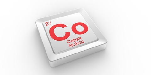 Co symbol 27 for Cobalt chemical element of the periodic table