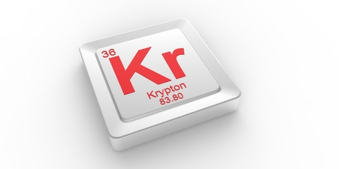 Kr symbol 36for Krypton chemical element of the periodic table