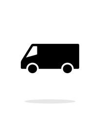 Minibus simple icon on white background.