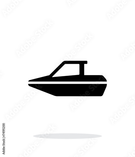 Boat simple icon on white background. - 74195200