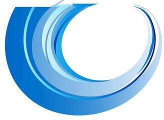 cerchio onda azzurra