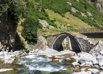 Small Bridge on Kackar Mountains in Turkey