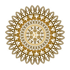 ethnic round ornament
