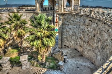 stairway in Saint Remy bastion, Cagliari
