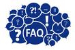 FAQ Fragen in blau