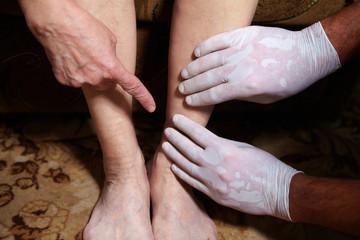 Legs of senior woman