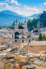 Panoramic cityscape of Salzburg, Austria