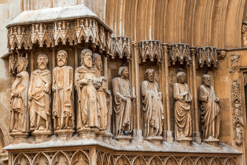 Catedral Tarragona - Detalle Entrada Apóstoles