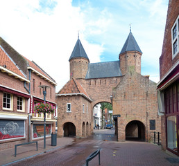 city gate in amersfoort, netherlands