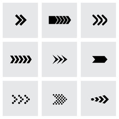 Vector black arrows icon set