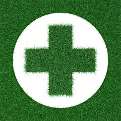 emblem фармации from grass