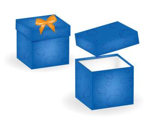 Открытая коробка. Подарок. Новогодний подарок.