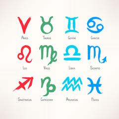 hand-drawn zodiac