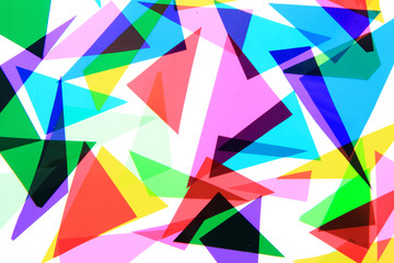 texture from color plastic triangles