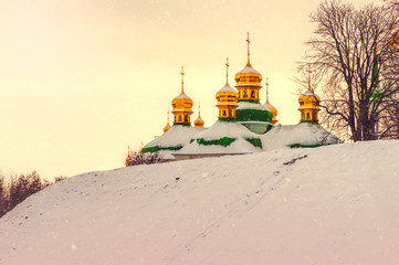 Evening Snow on Lavra's Roofs