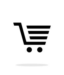 Shopping cart, trolley simple icon on white background.