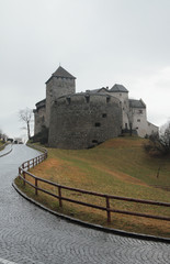 Road to castle. Vaduz, Liechtenstein