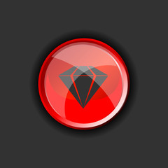 diamond on red vector on a black background