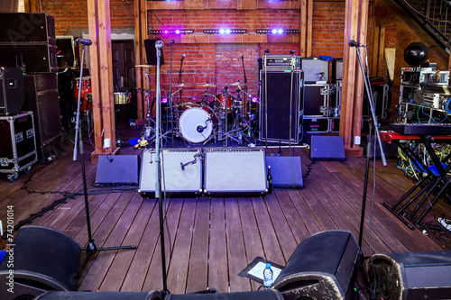 Leinwanddruck Bild Rock concert stage