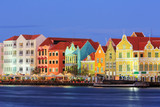 Willemstad at twilight. Curacao, Netherlands Antilles