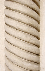 Limestone column with spiral ornament